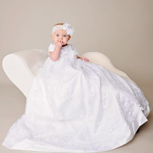 Preslee Beaded Silk Christening Gown - One Small Child