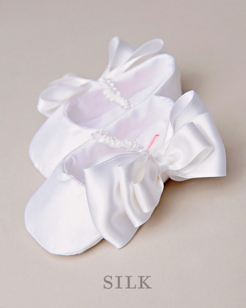 Bow Christening Slipper