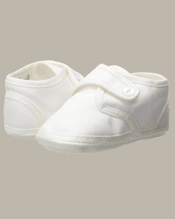 Boys Cotton Shoe with Button Closure
