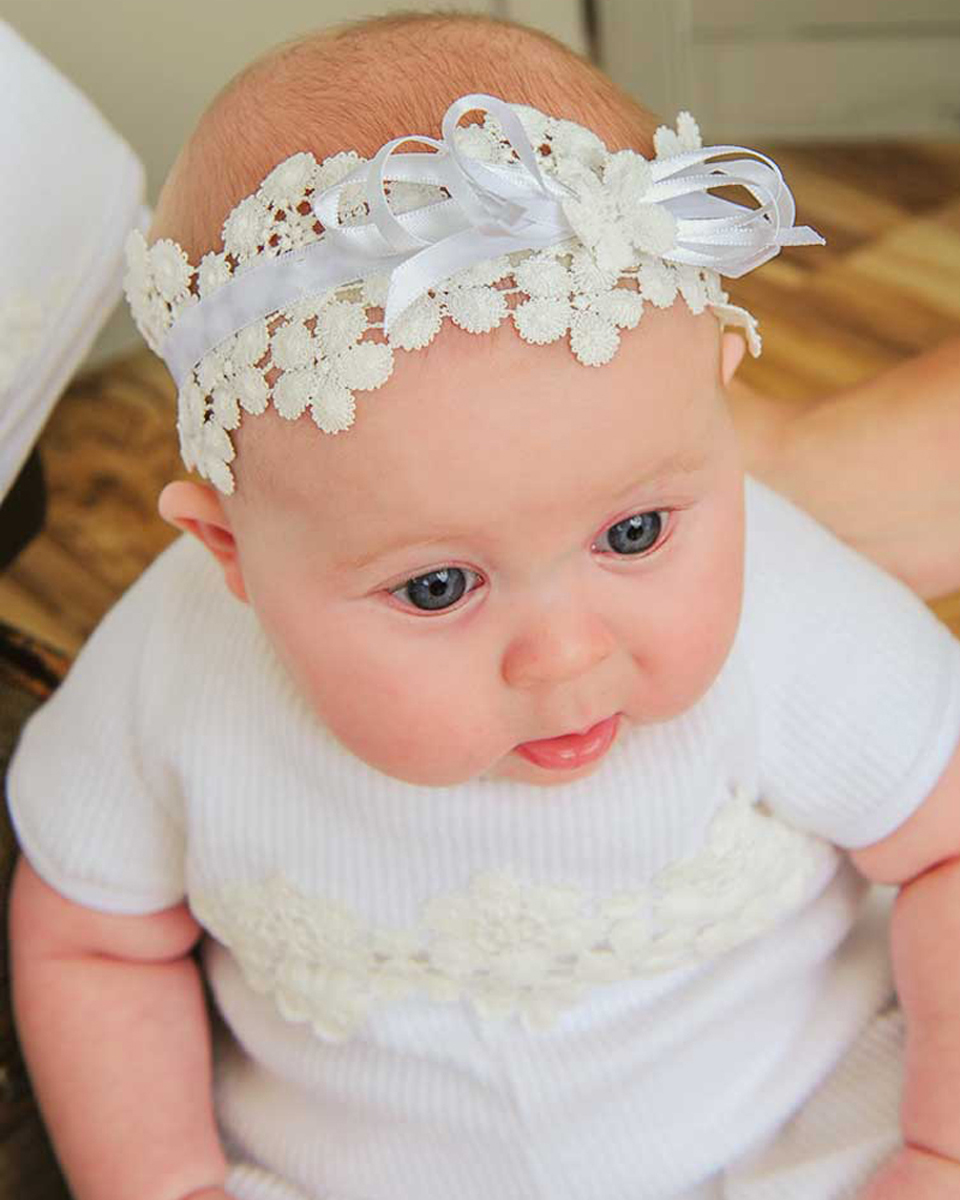 Amber After-Christening Headband for Baby Girls - One Small Child 1047c3fc64c