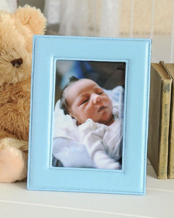 Baby Blue Leather Frame
