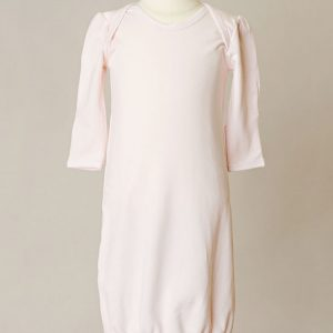 Girls Three-Piece Bamboo Layette Set in Pink or White - One Small Child