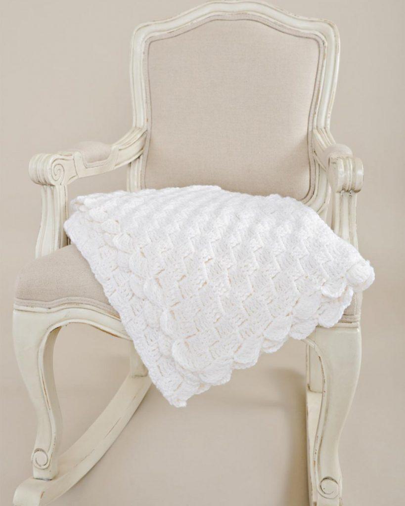 Basketweave Crochet Baby Blanket