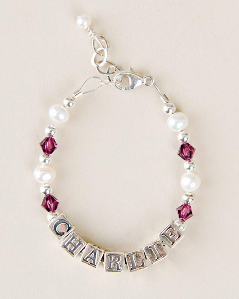 Birthstone Name Bracelet
