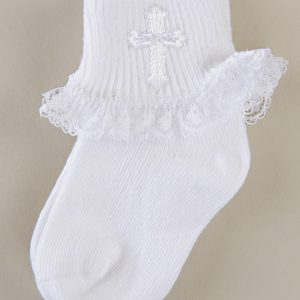 Cross Ruffle Socks