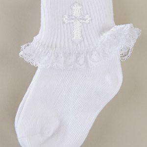 Cross Ruffle Socks - One Small Child