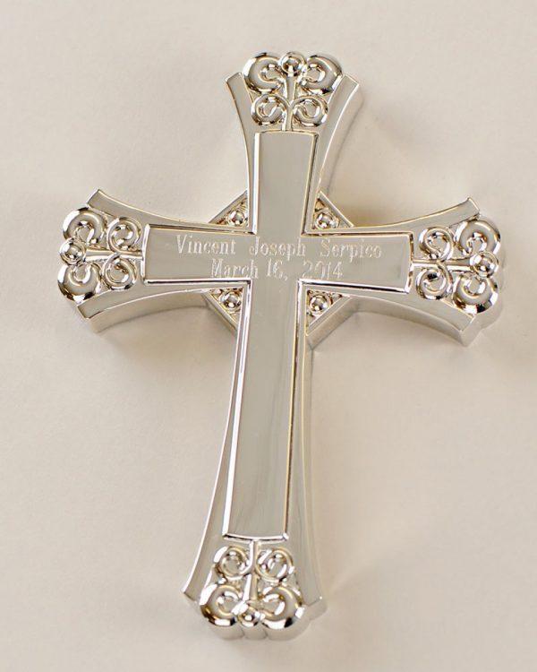 Ornate Silver Wall Cross