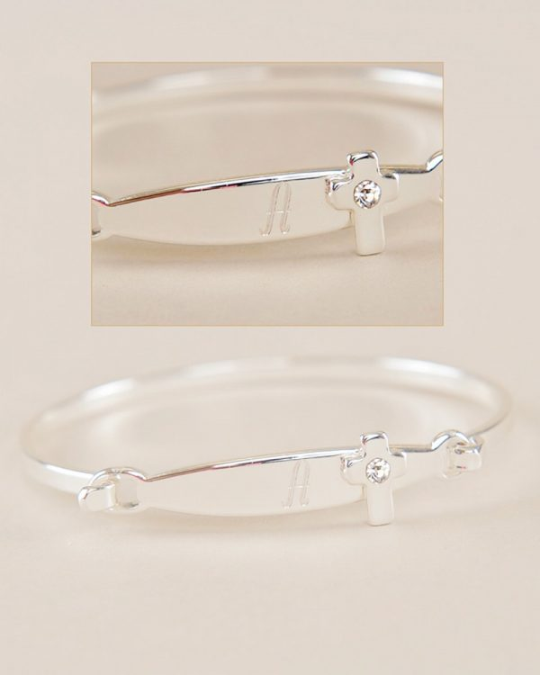 Rome Cross Baby Bracelet