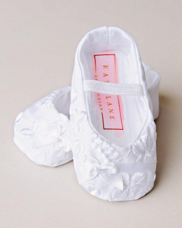 Erin Shamrock Christening Slippers - One Small Child