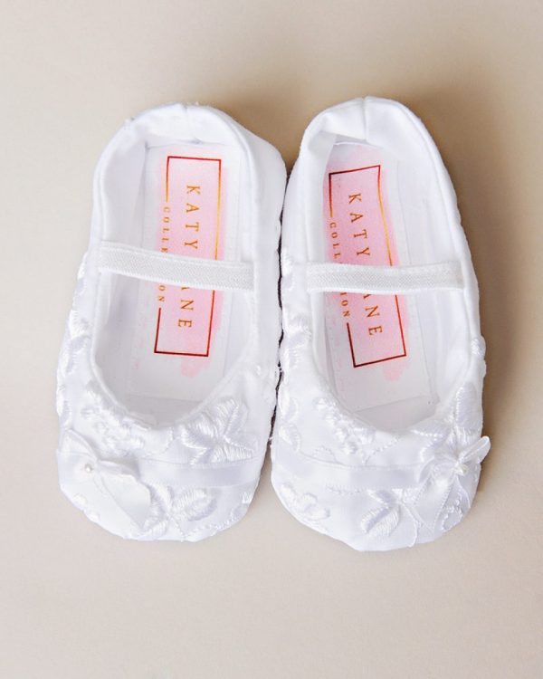 Erin Shamrock Christening Slippers