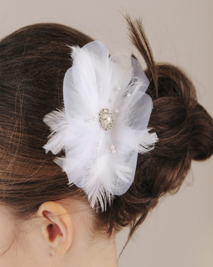 Feather Flower Comb
