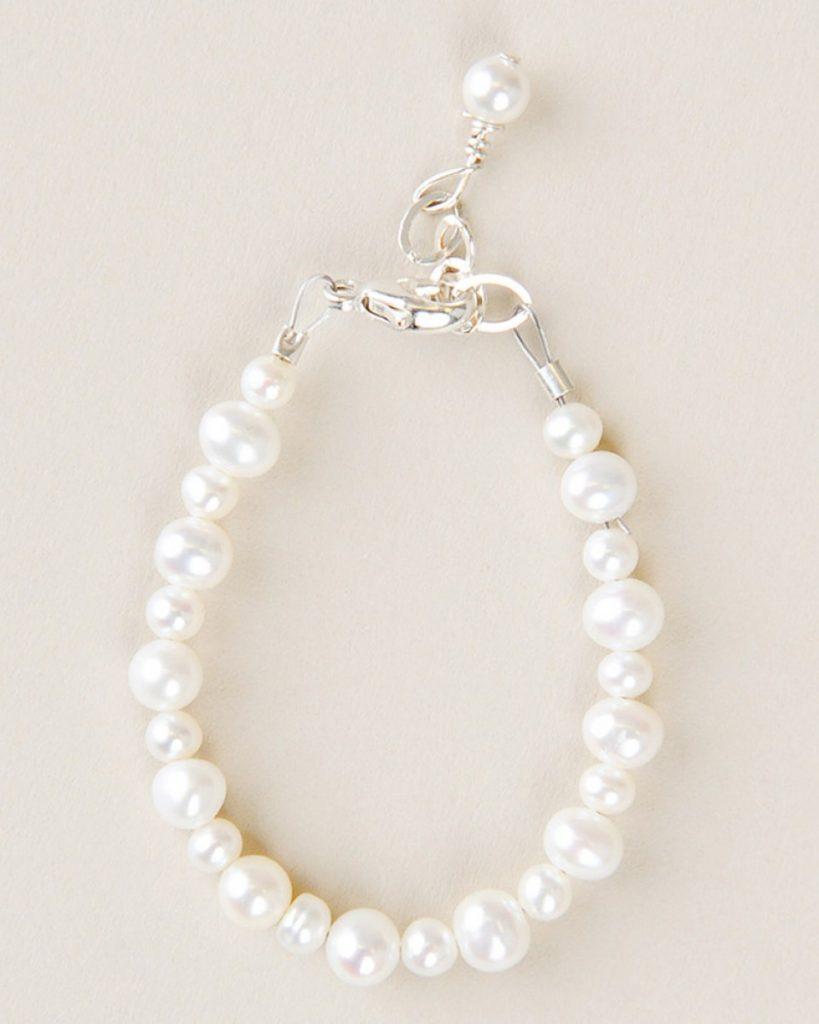 Freshwater Pearl Christening Bracelet