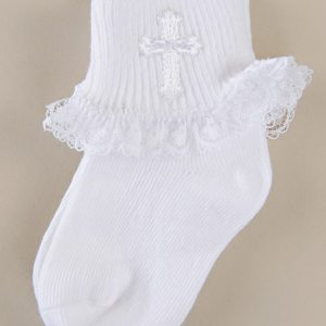 Girls' Cross Ruffled Socks