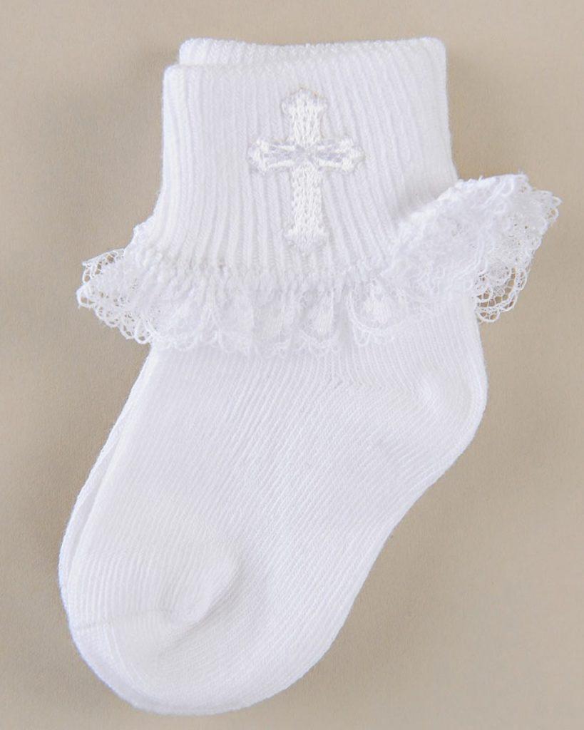 Girls' Cross Ruffled Socks