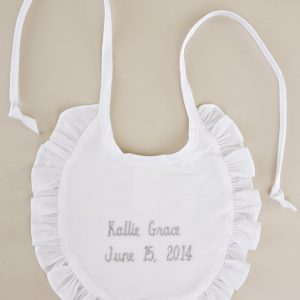 Personalized Name & Date Ruffle Bib