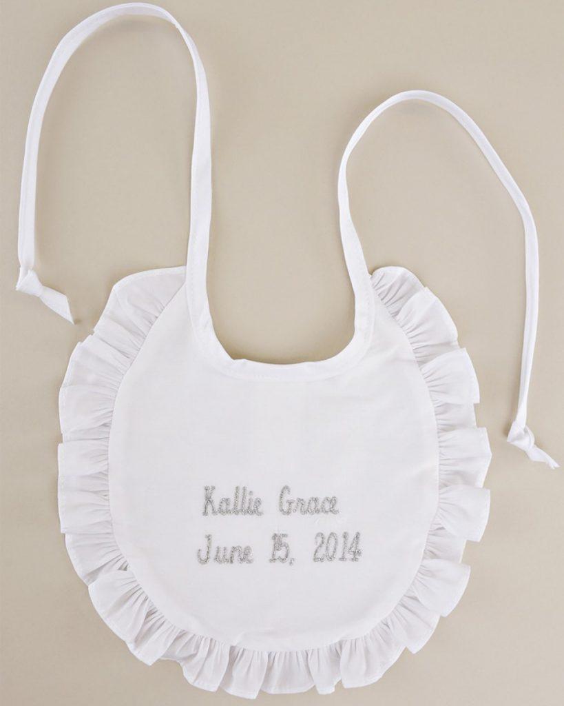 Personalized Name & Date Ruffle Bib