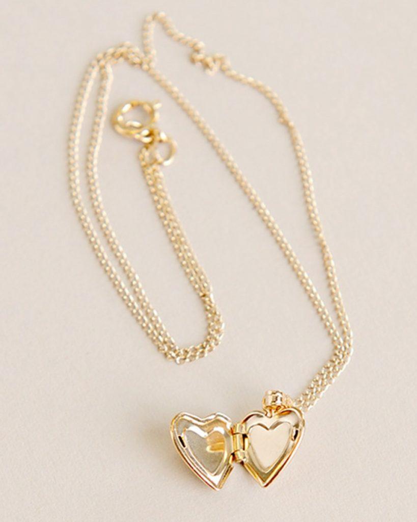 Gold Heart Diamond Locket