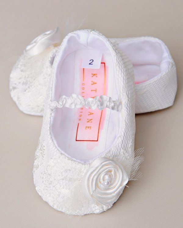 Memory Lace Christening Slippers