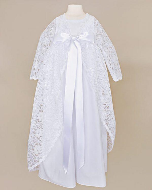 Kylie Lace Christening Jacket