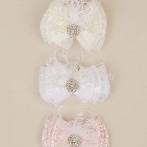 Jewel Lace Bow Headband
