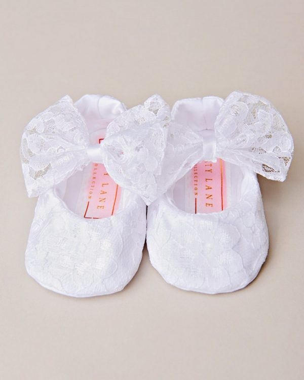 Lucy Christening Slippers