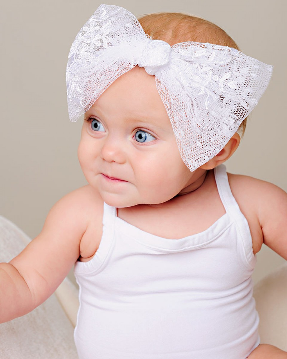 Memory Lace Bow Headband - One Small Child 48b52acb271