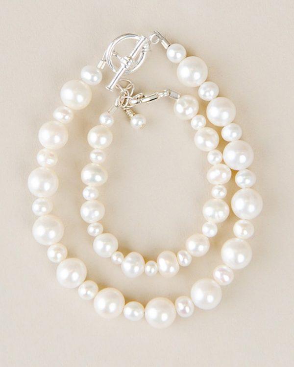 Mother & Child Pearl Bracelet Set