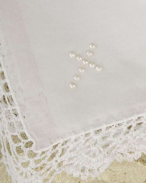 Pearl Cross Handkerchief
