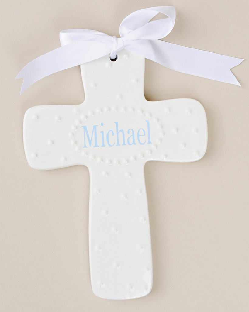 Personalized Porcelain Wall Cross