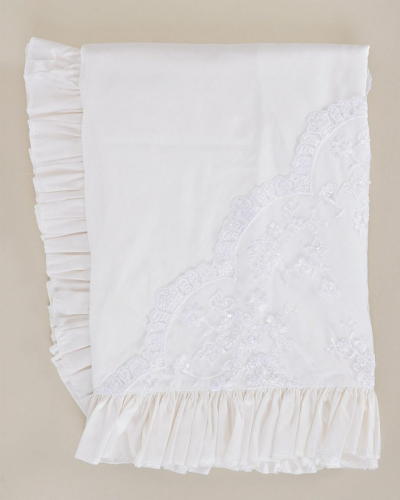 Preslee Silk and Lace Blanket