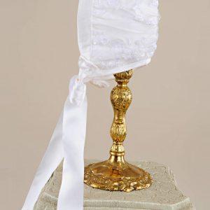 Preslee Silk Christening Bonnet