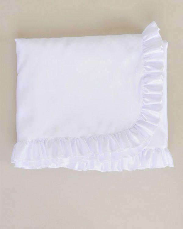 Satin Ruffle Blanket
