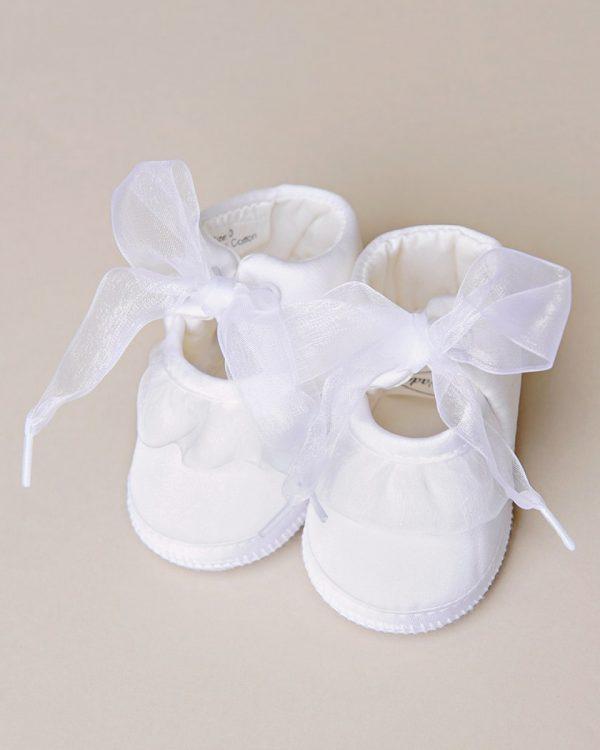 Silk Ruffle Slippers