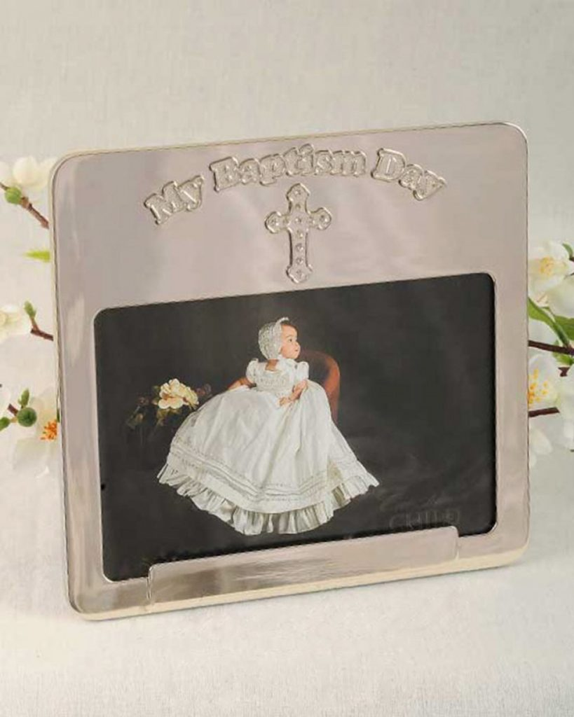 Silver 'My Baptism' Frame