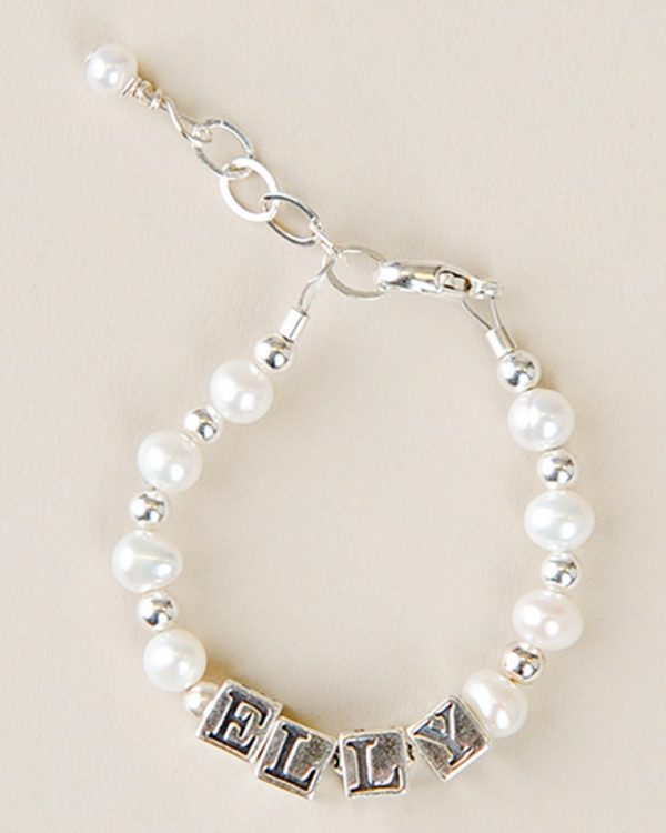 Silver & Pearl Name Bracelet - One Small Child