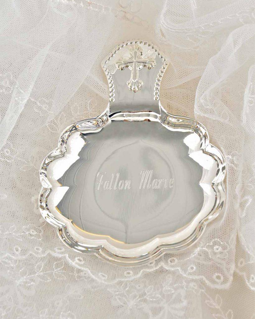 Silverplate Baptismal Shell