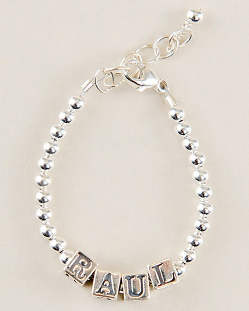 Simple Silver Name Bracelet