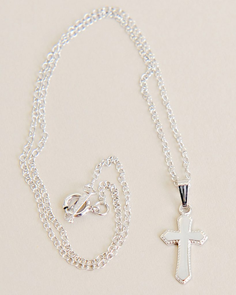 Sterling Cross Baby Necklace