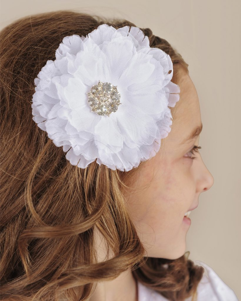 Voile Flower Comb