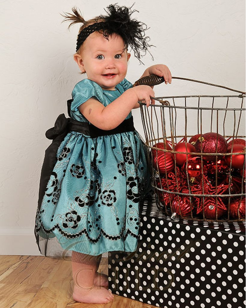 Winter Sparkle Baby Holiday Dress