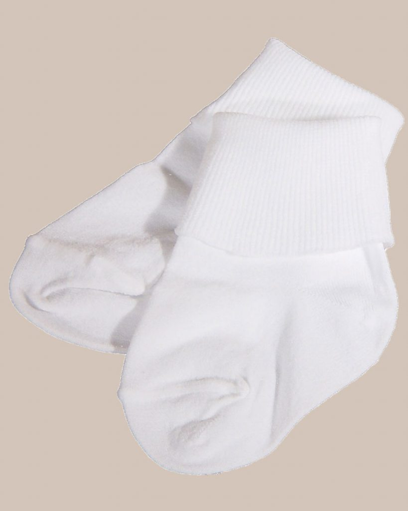 Unisex White Cotton Simple Classic Anklet Socks