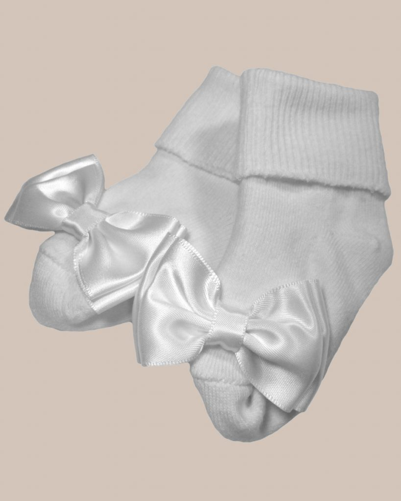 Girls Cotton Special Occasion Socks with Bow - One Small Child