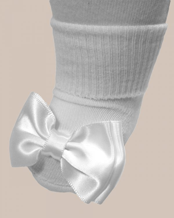 Girls Cotton Special Occasion Socks with Bow