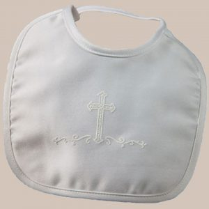 Matte Satin Bib with Screened Cross