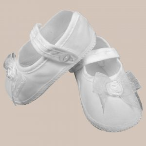 Girls Organza Shoe with Bow - One Small Child