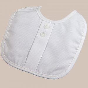 Boys Polyrayon Gabardine Bib with Button Accents