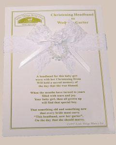 Christening Headband to Wedding Garter - AHEAD2