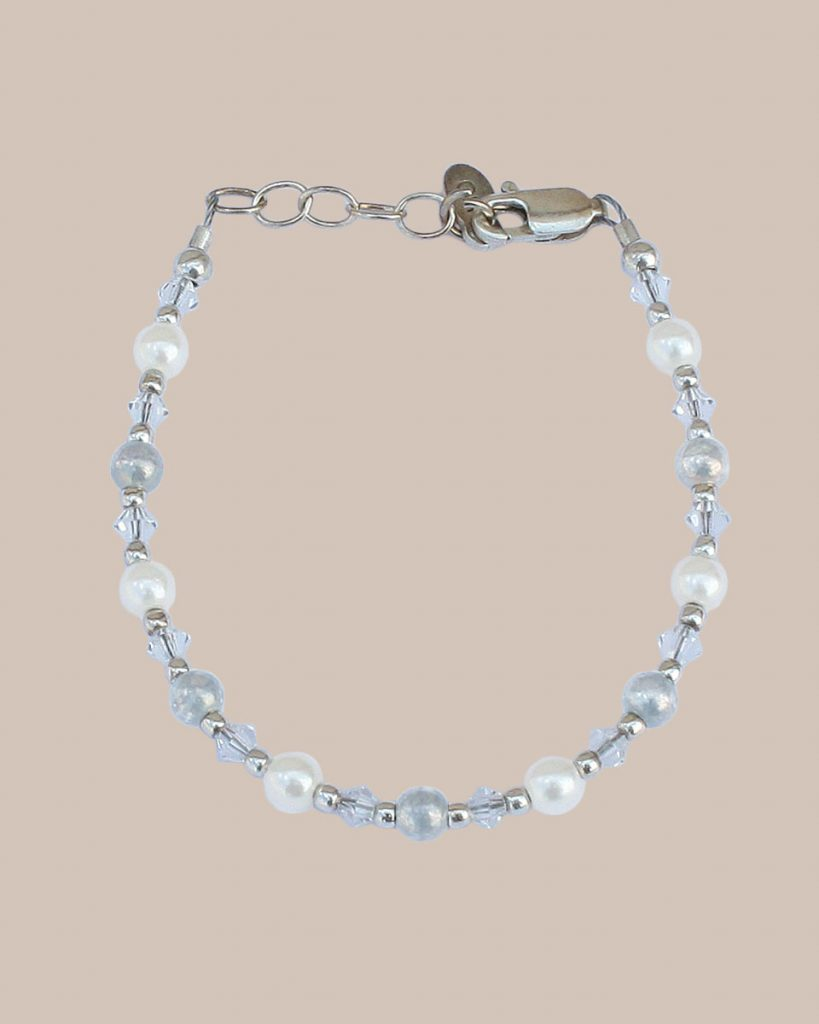 Pearl and Silver Bracelet - One Small Child