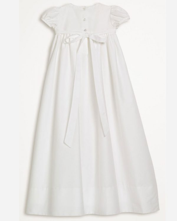 "Girls 34"" Cotton Dress Christening Gown Baptism Gown with Hand Embroidery"