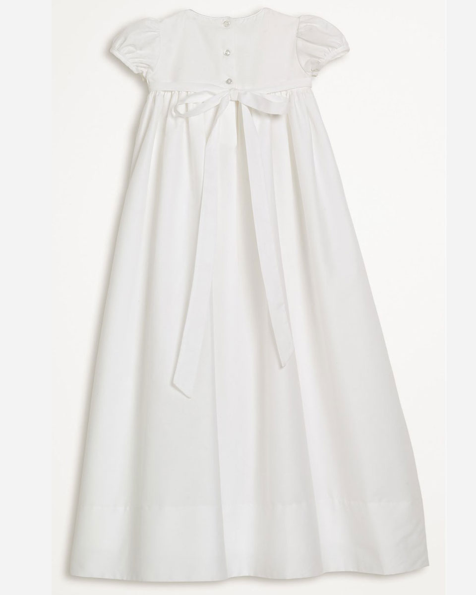 "Baptismal Gown Preservation: Girls 34"" Cotton Dress Christening Gown Baptism Gown With"